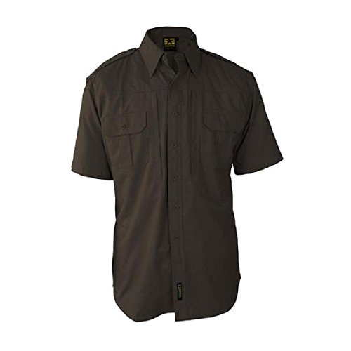 (Propper F531150 Tactical Lightweight Short Sleeve Shirt, Sheriff Brown, Extra Small)