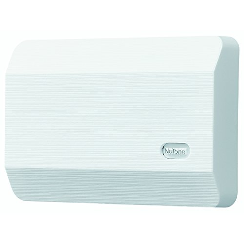 NuTone LA11WH Decorative Wired Two-Note Door Chime, White Textured (Chimes Wired White Broan)