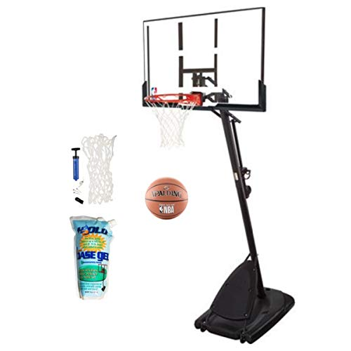Spalding Pro Slam Portable NBA 54' Angled Pole Backboard Basketball System ((Black)) (Black, 54')