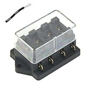 41l94%2BWDlCL._SY300_ amazon com estone 4 way fuse box block fuse holder box car 4 way fuse box at crackthecode.co