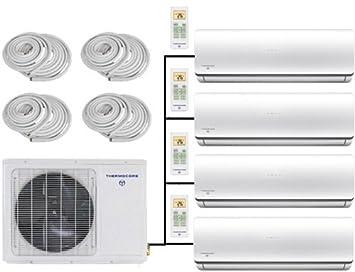 amazon com thermocore systems quad zone energy star ductless mini thermocore systems quad zone energy star ductless mini split heat pump air conditioner 12000btu