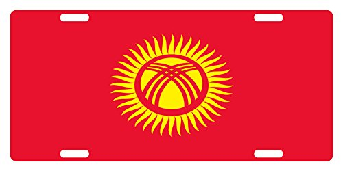 kyrgyzstan Flag Custom License Plate National Emblem ORIGINAL Version