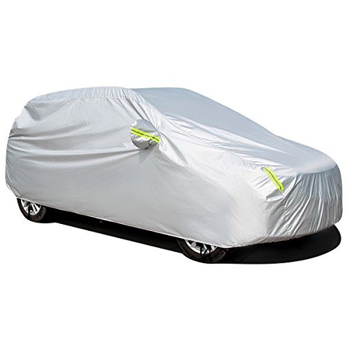 MATCC Car Cover Waterproof SUV Car Cover with Fluorescent Strips UV...
