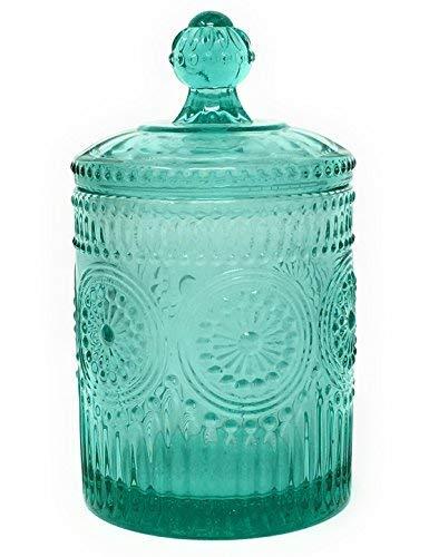 The Pioneer Woman Adeline Teal Mini Storage Jar 3.5 x 6.25 (Teal Glass)