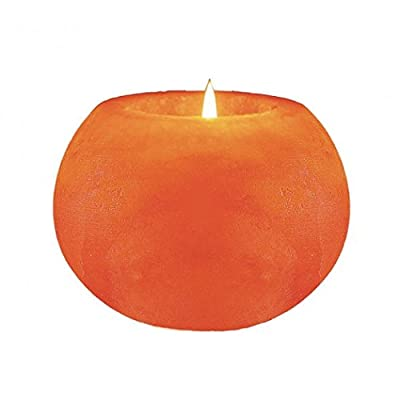 Natural Himalayan Crystal Rock Salt Candle Holder - Round Shape