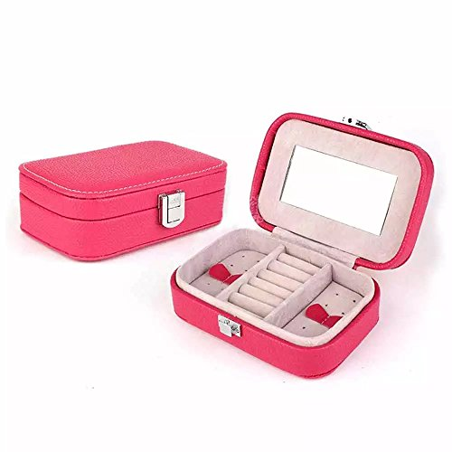 Brendacosmetic New Fashion PU Leather Jewelry Accessories Box Storage Cases,Portable Travel Case Mini Makeup Case Organizer for (Reed And Barton Grand)