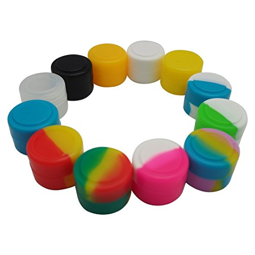 Gentcy Silicone 2ml 100pcs Silicon ContainersJar Seals Oil Wax Concentrate 13Color by Gentcy Silicone (Image #5)
