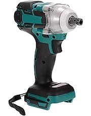 Sxiocta Draadloos slagmoersleutel, 18 V en schroevendraaier, 2-in-1, 3200 omw/min, 320 N.M, geschikt koppel, geschikt voor Makita accu 18 V Bl1850/Bl1850B/Bl1860B/Bl1840/Bl1840B