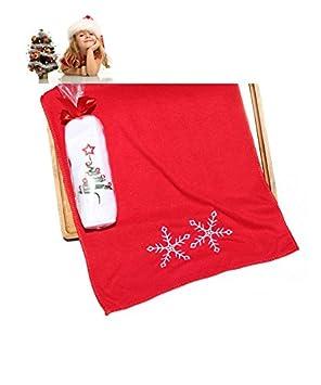 Beauty7 toalla blanca navideña con bordado de árbol de Navidad: Amazon.es: Hogar