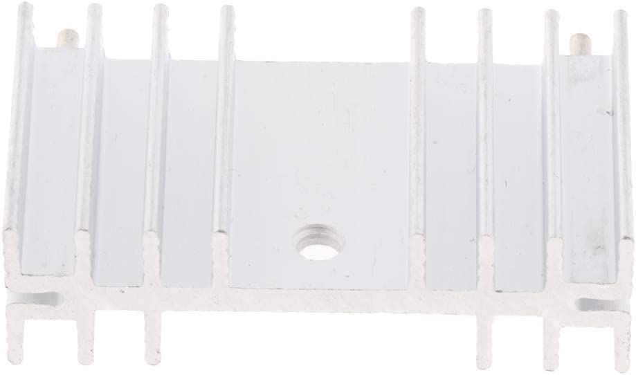 PCB LED Transistor 36mm x11mm x20mm F Fityle Aluminium K/ühlk/örper K/ühlflosse Heatsink K/ühler Fin f/ür Triode IC