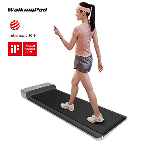 WALKINGPAD Smart Folding Treadmill Under Desk Portable Kingsmith A1 Walking Pad Digital Electric Slim Foldable Fitness Jogging Training Cardio Workout for Home Office 0-3.72mile/Hour