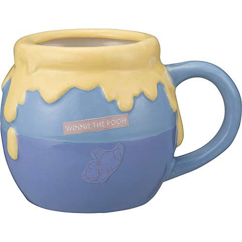Mugs Blue 450ml Disney Winnie the Pooh Mug Cup Honey Pot San3255-2