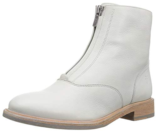 - FRYE Women's Kelly Front Zip Bootie Ankle Boot, White, 6 M US