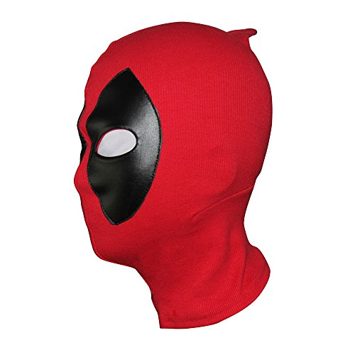 2016 Deadpool Cosplay Mask Balaclava Costume Halloween Hood Cotton Spandex Leather , Adult (Cool 80's Halloween Costumes)