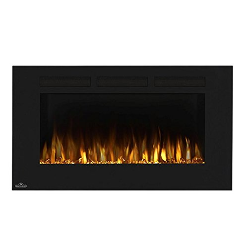 Napoleon 42-Inch Allure Wall Mount Electric Fireplace - - Steel Black Wood Napoleon