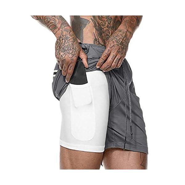 Homme Short de Sport Séchage Rapide Jogging Fitness Shorts d'entrainement avec Poches accessoires de fitness [tag]