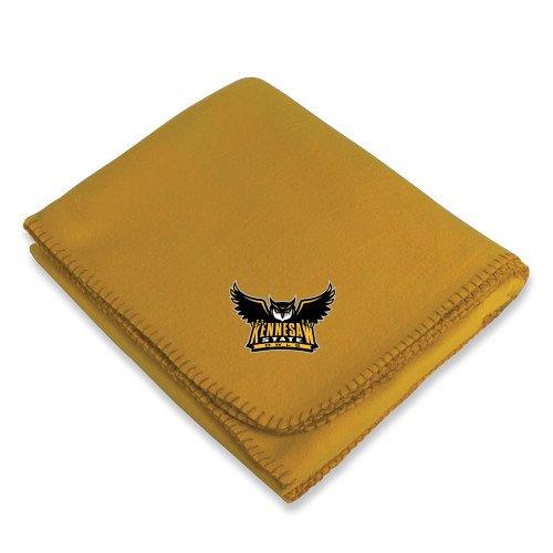 (Kennesaw Gold Arctic Fleece Blanket 'Official Kennesaw State Owls Logo')