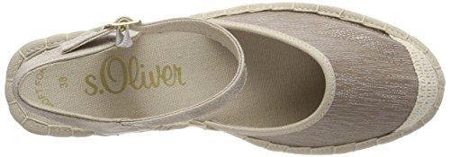 s.Oliver Damen 28350 Riemchensandalen silber (pewter struct.)