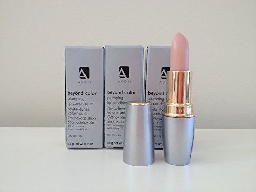 Lot of 3 -  Avon Beyond Color Lip Conditioner SPF 15 (Lip Stain Plumping)