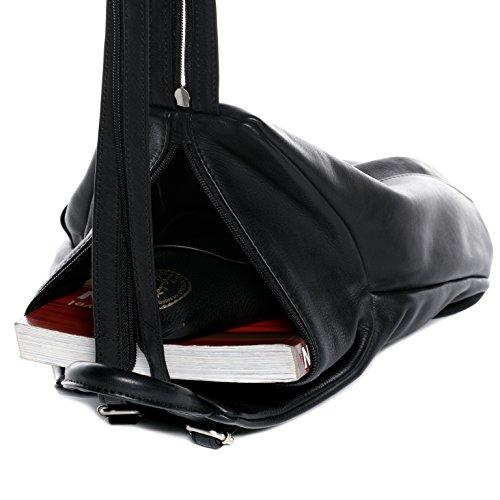 à à dos sac sac BACCINI® cuir EMILIA petit femme noir sac sac dos backpack en Noir véritable cuir FYq0qw5