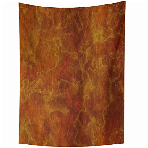 (Ahawoso Tapestry 60x90 Inch Abstract Orange Italian Marble Stone That Works Brown Granite Bright Burnt Clean Wall Hanging Home Decor for Living Room Bedroom Dorm)