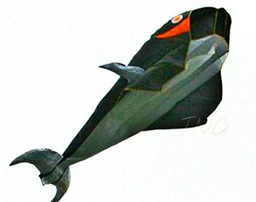 立体イルか凧 カイト フライング効果が非常に素晴らしいです 飛び、持ち運びやすいです B00IZ61ABY