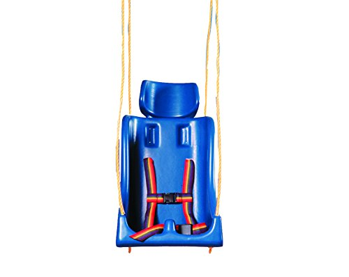 Full Support Swing Seat - Skillbuilders 30-1592 Full Support Swing Seat with Pommel, Chain, Large (Adult)
