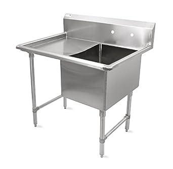 Good John Boos B Series Stainless Steel Sink, 14u0026quot; Deep Bowl, 1 Compartment,