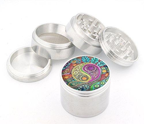 Fashion Weed Design Indian Aluminum Spice Herb Grinder Item # 110514-0033