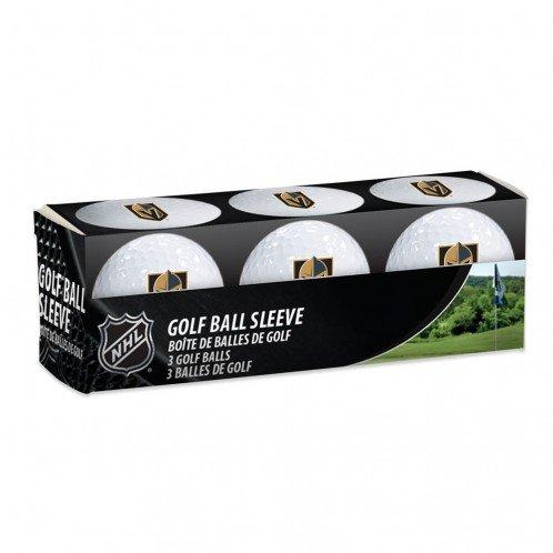Nhl Golf Balls (Las Vegas Golden Knights Official Golf Balls - 3 pack sleeve Licensed by NHL)