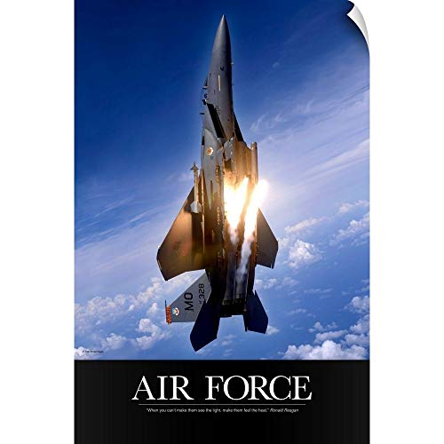 - CANVAS ON DEMAND Kate Lillyson Wall Peel Wall Art Print Entitled Military Poster: an F-15E Strike Eagle pops Flares 12