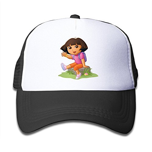 baby-dora-the-explorer-dora-adjustable-snapback-mesh-hat-black-one-size
