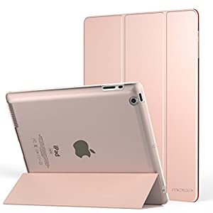 MoKo Case for iPad 2/3 / 4 - Ultra Lightweight Slim Smart Shell Stand Cover with Translucent Frosted Back Protector for iPad 2 / The New iPad 3 (3rd Gen) / iPad 4, Rose Gold (with Auto Wake/Sleep)