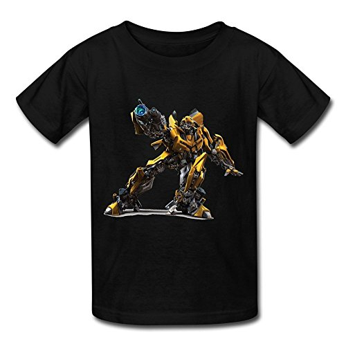ZIYUAN Kid's Photo Transformers Bumblebee T-shirts M Black