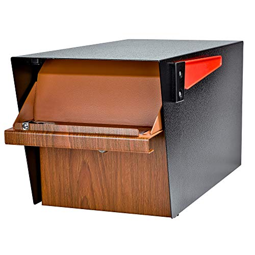Mail Boss Curbside 7510 Mail Manager Locking Security Mailbox, Wood Grain, Black Powder Coat by Mail Boss (Image #5)