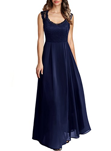 Arolina Women's Formal Floral Lace Vintage Wedding Evening Party Dresses (XX-Large, Navy Blue)