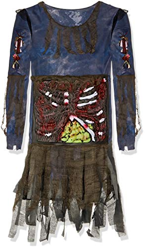 Fun World Women's Zombie Costume, Grey, Small/Medium