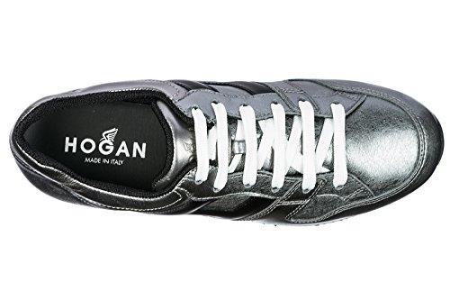 Hogan Scarpe Da Donna Scarpe Da Tennis Di Cuoio Delle Donne Scarpe Da Tennis Dargento H222