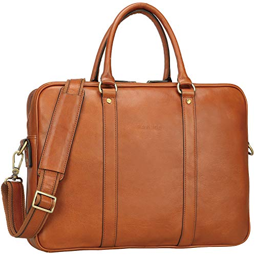 - Banuce Vintage Full Grain Italian Leather Briefcase for Men Attache Case Tote Handbag Business Bag 14 inch Laptop Messenger Bag