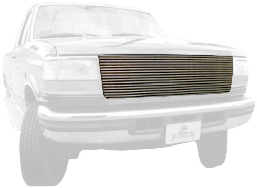 (TRex Grilles 20535 Horizontal Aluminum Polished Finish Replacement Billet Grille for Ford Pickup Bronco)