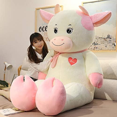 Koe knuffel slapen kussen Leuke grote pop pop nieuw jaar gift meisje 160cm,B,80cm