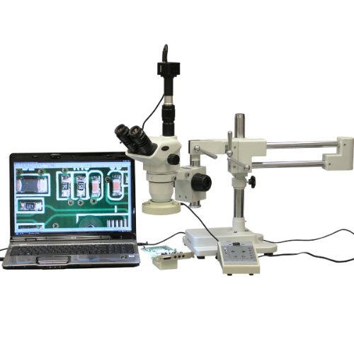 AmScope ZM-4TNW3-80AM-8M Digital Professional Trinocular Ste