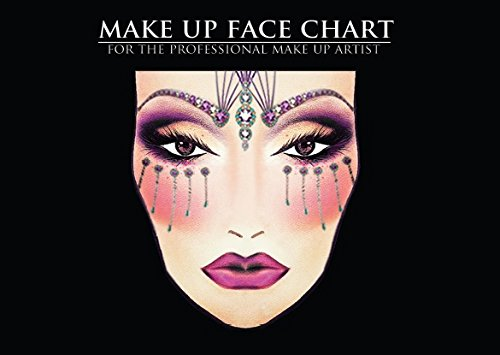 The Face Charts For Makeup Artists Note Workbook, Makeup Book Q