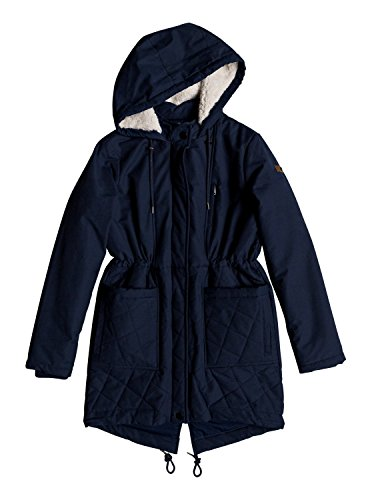 Roxy Womens Slalom Chic - Waterproof Hooded Padded Jacket - Women - M - Blue Dress Blues M