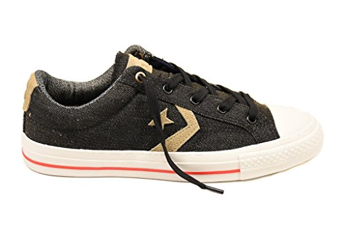 Converse Unisex Star Player Denim 153956 Sneakers Black/Sandy UK 6