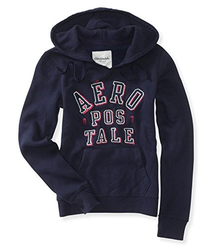 Aeropostale Womens Embroidered Glitter Sweatshirt