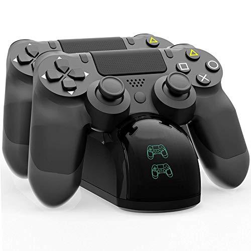 Cargador Controlador Mando PS4, AUSEIN Estación de carga Dual Shock 4,para Sony Playstation 4/PS4/PS4 Slim/PS4 Pro...