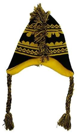 Batman - Unisex-adult Batman - Logo Mohawk Peruvian Knit Hat Black