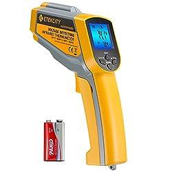 Etekcity Lasergrip 1025d Digital Dual Laser Infrared Thermometer Temperature Gun 58ºf 1022ºf 50ºc 550ºc With Adjustable Emissivity Non Contact Voltage Tester Ncv