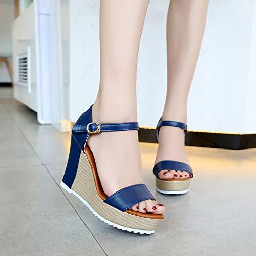sandali Donna Infradito Donna sandali Blu Estivi Donna Scarpe sandali Da Sportivi Sandalo Sandali Donna infradito Qualità Di Pelle 5fpS0nvwx